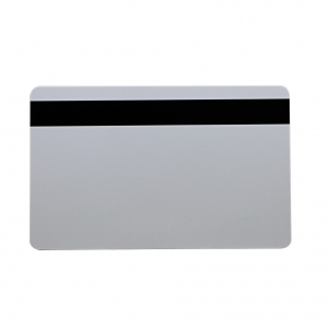 Blank White Plastic Card With Narrow Magnetic Stripe