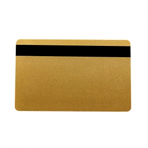 Blank Metallic Gold Plastic Cards With Narrow Magnetic Stripe