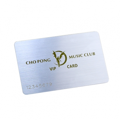 Brushed Plastic Music Club VIP Store Value Cards