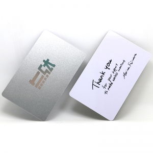 Premium PVC Glossy Silver Plastic Business Cards Custom With Logo
